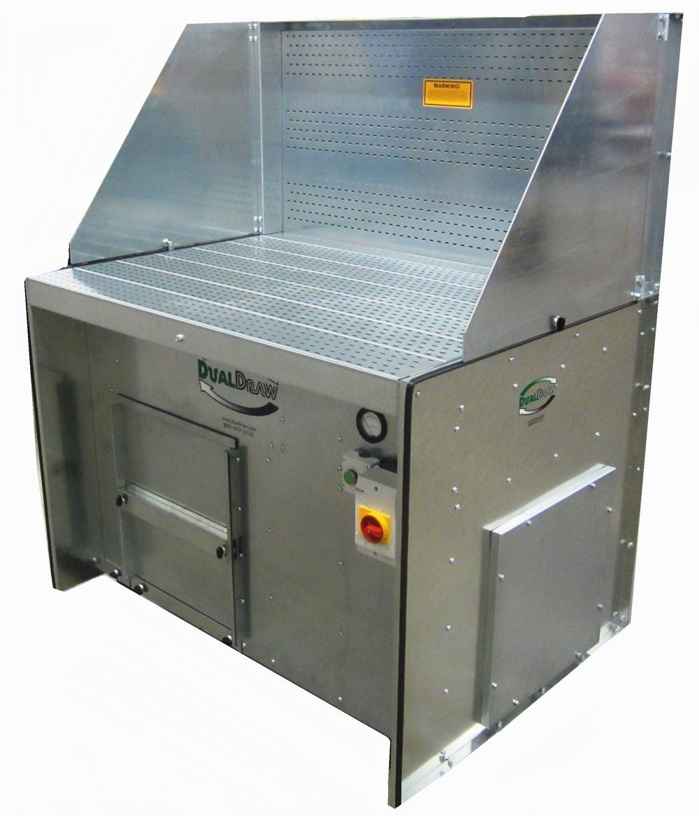 Portable Downdraft With Self Cleaning Filters DualDraw